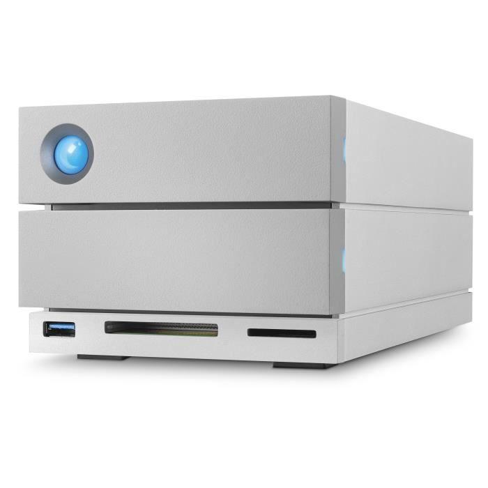 SEAGATE Système de stockage DAS LaCie 2big Dock STGB16000400 - 2 x Total de compartiments Bureau - USB 3.0 Type A - Serial ATA/600