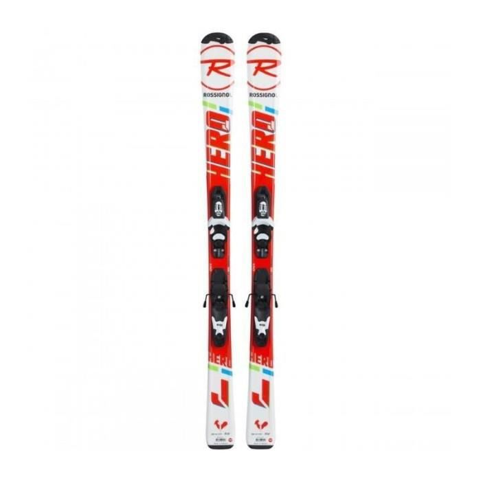 Ski junior Rossignol Hero JR vert bleu + fixations