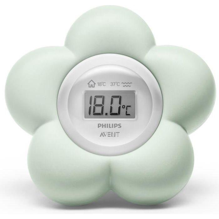 PHILIPS AVENT SCH480/00 Thermomètre de bain numérique bébé - Vert