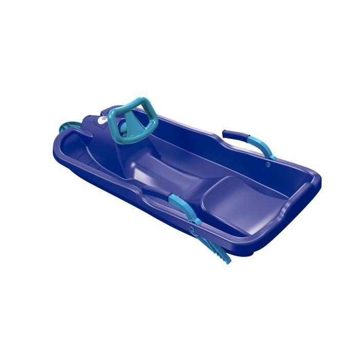 PLASTKON Luge volant SkiBob - Enfant - Bleu