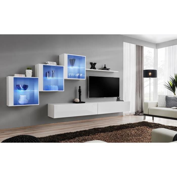 Ensemble meubles de salon SWITCH XX design, coloris blanc brillant. 40 Blanc