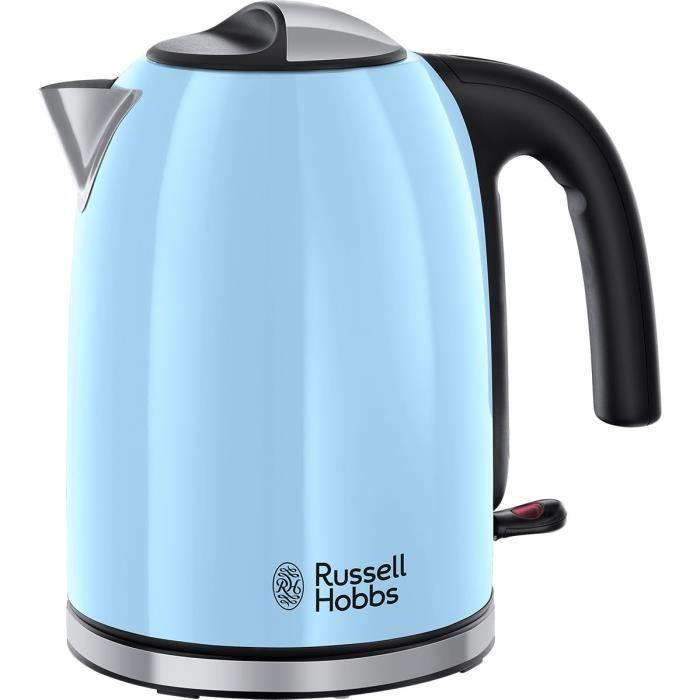 RUSSELL HOBBS 20417-70 Bouilloire Familiale Colours Plus, Capacité 1.7L, Ebullition Rapide, Filtre Anti-Calcaire Amovible, Lavable,