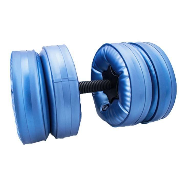Dumperbells Ensemble d'haltères de voyage d'haltères ajustables haltères remplissables d'eau portable réglable et doux ,Bleu