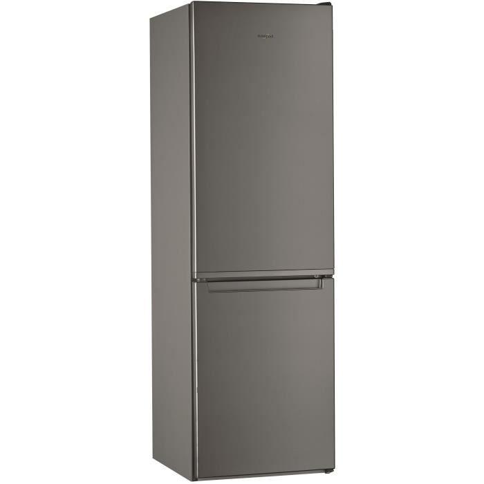 WHIRLPOOL WLF8001OX Réfrigérateur 339 L (228 + 111) - Froid statique - Posable - Classe A+ - 59,5 x 188,8 cm - Inox