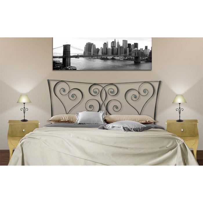 t tes de lit en fer forg mod le amazon 105cms achat. Black Bedroom Furniture Sets. Home Design Ideas