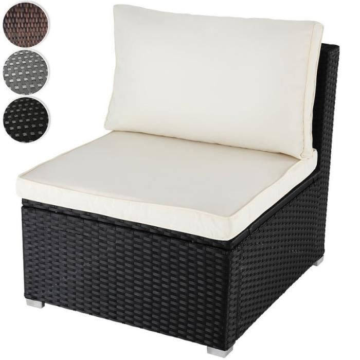 fauteuil canap de jardin noir r sine tress e avec coussin. Black Bedroom Furniture Sets. Home Design Ideas