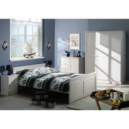 Chambre adulte en pin massif astrid ii achat vente lit for Chambre adulte complete en pin
