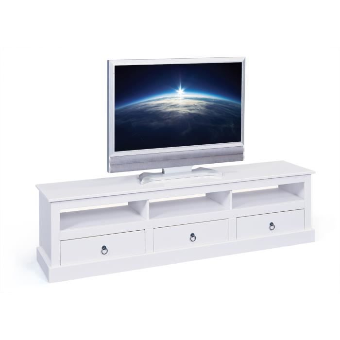 table tv banc blanc achat vente living meuble tv. Black Bedroom Furniture Sets. Home Design Ideas