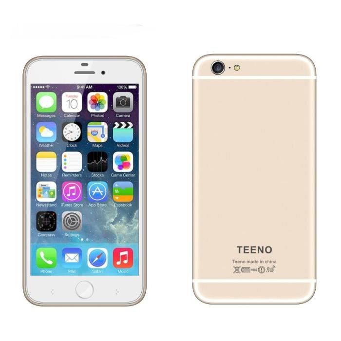 teeno 3g smartphone 6 plus golden t l phone portable 5 5 smartphone android mobile phone. Black Bedroom Furniture Sets. Home Design Ideas