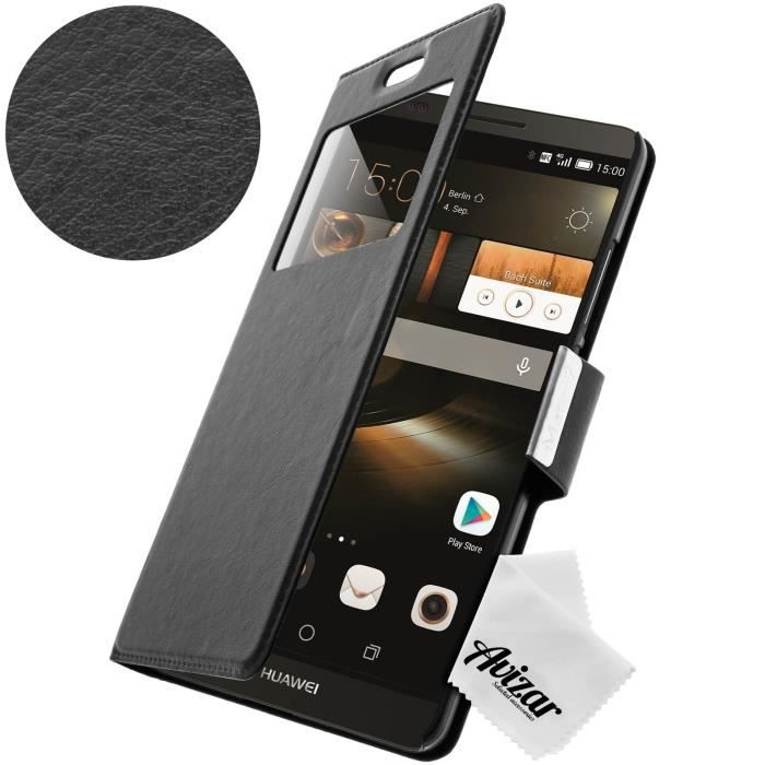 Housse etui fen tre huawei ascend mate 7 noir achat for Housse huawei mate 8