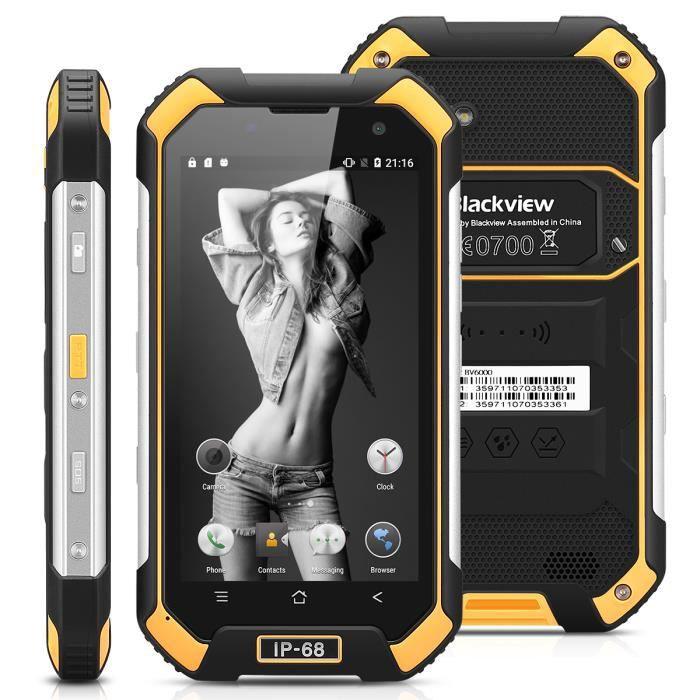 SMARTPHONE Blackview BV6000 4G Smartphone Jaune Antipoussière
