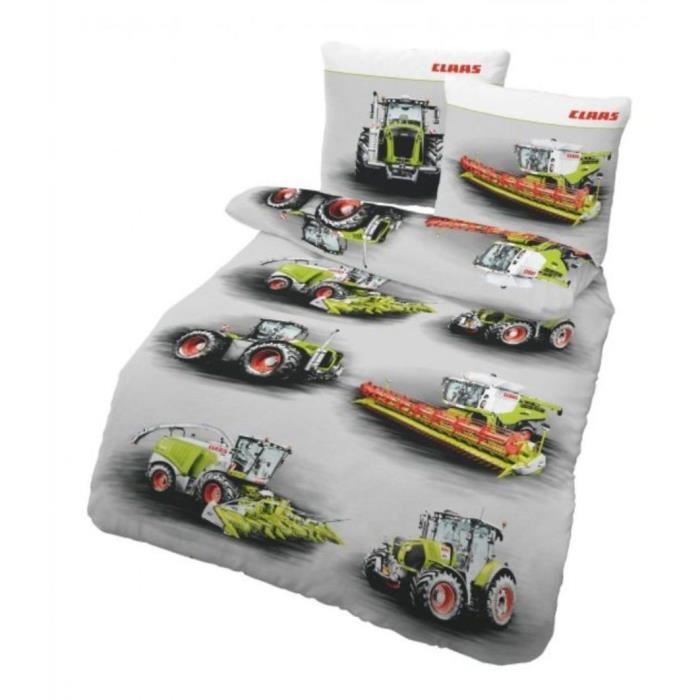 linge de lit tracteur moissonneuse batteuse claas machines agricoles 135x200 cm achat vente. Black Bedroom Furniture Sets. Home Design Ideas