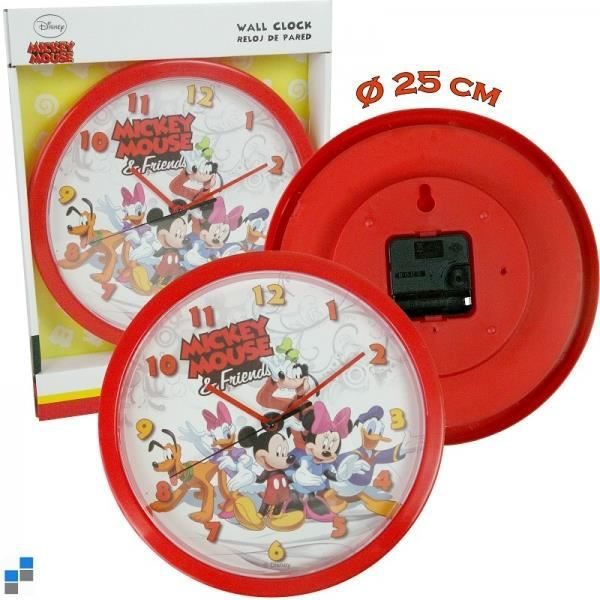 horloge murale enfant disney mickey 25 cm achat vente. Black Bedroom Furniture Sets. Home Design Ideas
