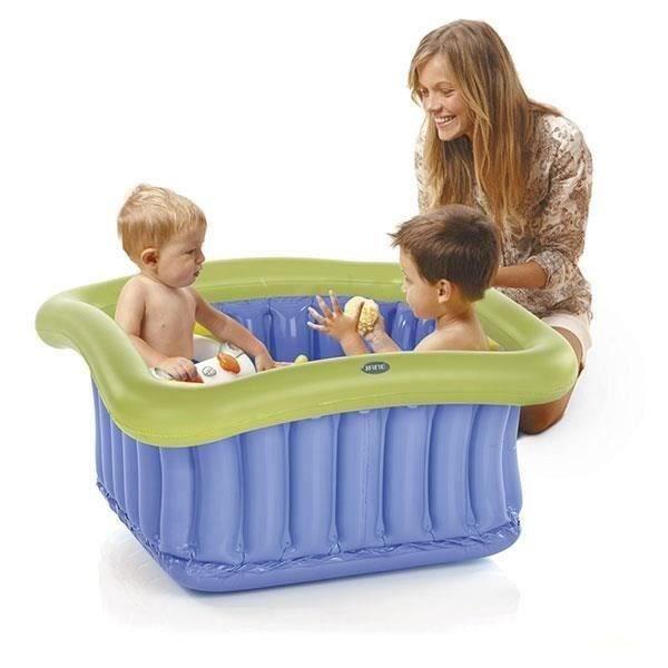 Gonflable Baby Kids Bath Voyage laver Baignoire diverses couleurs-Pompe à air en option