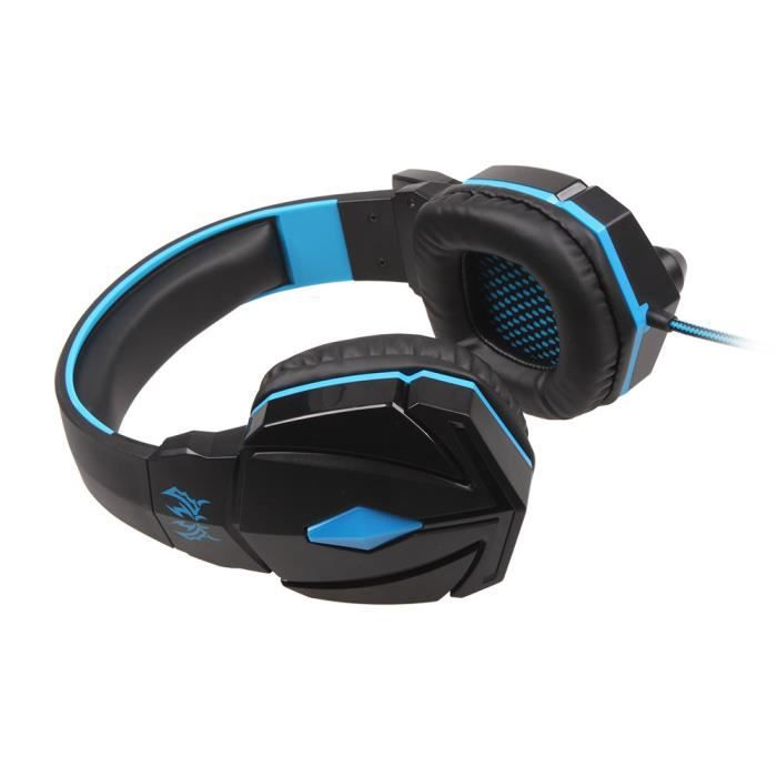 maimanrui bleu casque gamer ps4 7 1 pour jeux casque. Black Bedroom Furniture Sets. Home Design Ideas