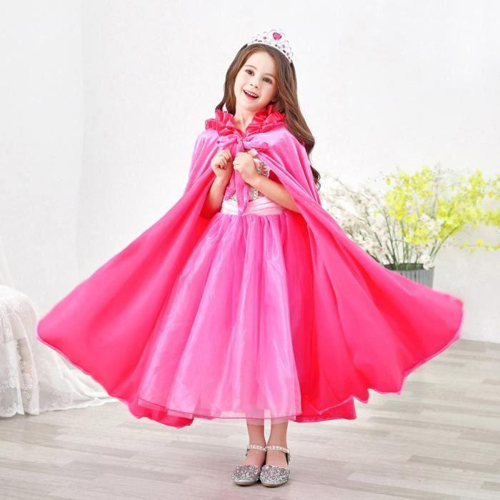 Bleu Velours Déguisement Cape avec col robe fantaisie prince princesse
