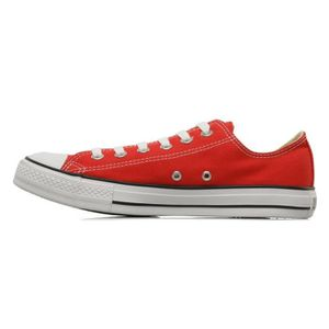 converse rouge a pois blanc