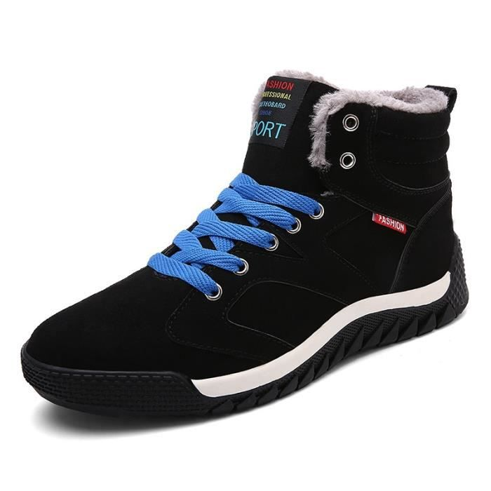 Botte Homme Lace Up étudiants chaud style New Simple Skater hommes noir taille39