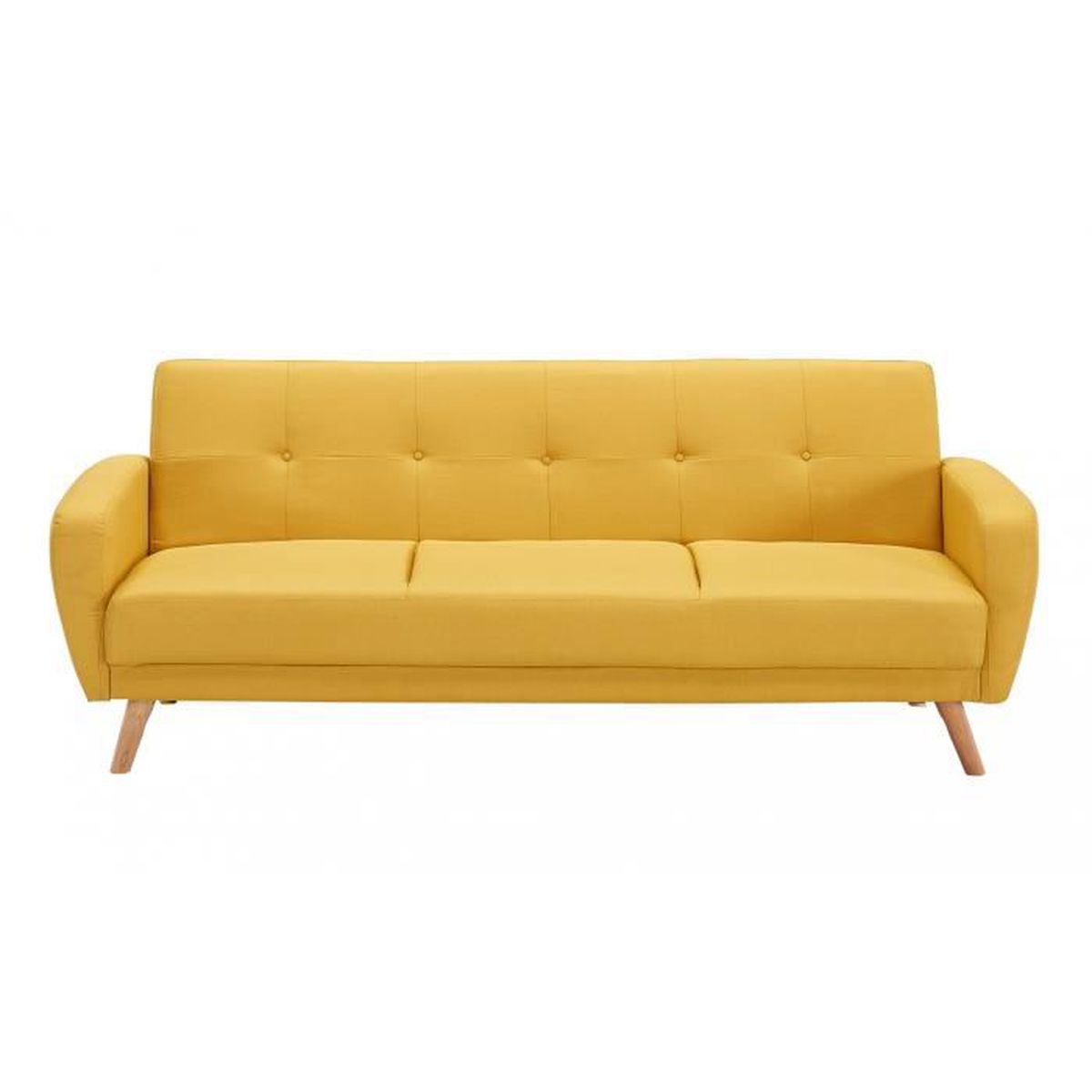 Canap 3 Places Scandinave Convertible Jaune Achat