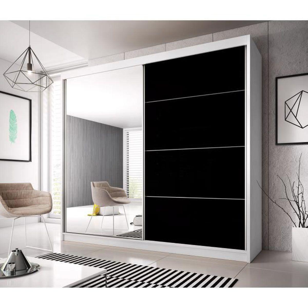 Armoire contemporaine 2 portes coulissantes Jackson - Achat ...