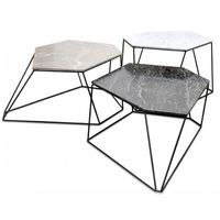 Casa Padrino set de table basse design blanc / gris / noir ...