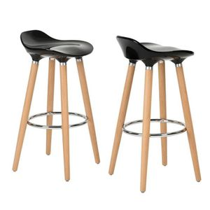 TABOURET DE BAR Lot de 2 Tabourets de bar, chaises hautes, assise