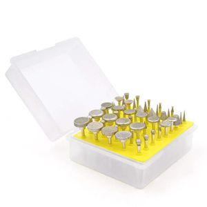 FORET - MECHE 50Pcs Pointes Diamantées Fraises Rotatives / 3mm F