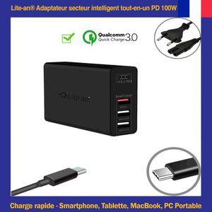 HOUSSE PC PORTABLE Lite-an Chargeur USB-C PD 87W Pour MacBook 12 pouc