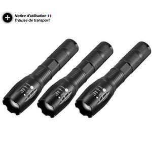 LAMPE DE POCHE Pack lampe torche led rechargeable avec 6 accessoi