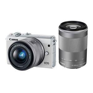 APPAREIL PHOTO HYBRIDE CANON EOS M100 BLANC + Objectif EF-M 15-45mm f/3.5