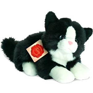 PELUCHE Peluche Chat noir et blanc - 20 cm
