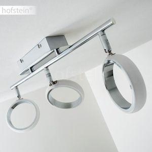 SPOTS - LIGNE DE SPOTS Spot plafond Hofstein Dobris Chrome à 3 Spots en l