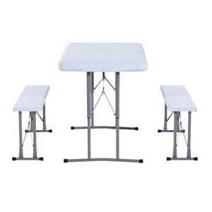 table banc pliant achat vente table banc pliant pas cher cdiscount. Black Bedroom Furniture Sets. Home Design Ideas