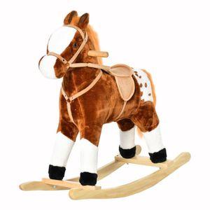 JOUET À BASCULE Cheval à bascule cheval de cowboy effet sonore sel