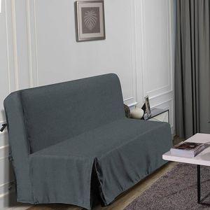 HOUSSE DE CANAPE HOMETREND Housse de BZ Graphite - 140 x 200 cm - G