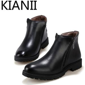 BOTTINE Kianii - Bottine en cuir - Homme - Noir