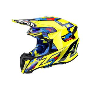 CASQUE MOTO SCOOTER Casque Motocross Airoh Twist TC16 Jaune