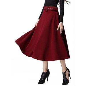 JUPE jupe longue évasée à taille haute pour femmes 1LCP