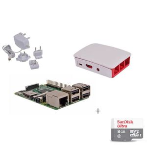 CARTE MÈRE Raspberry Pi 3 Official Desktop Starter Kit+ (8GB,
