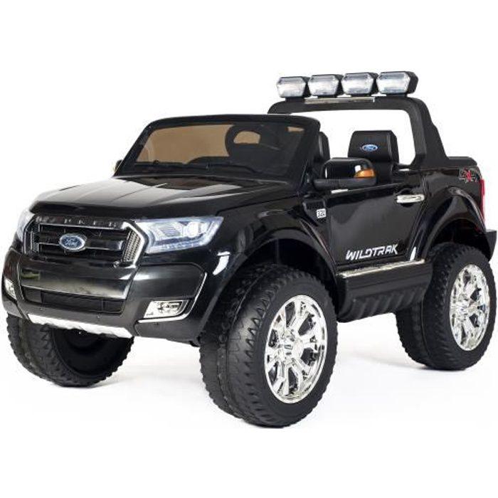 Ford Ranger 4x4 MP4 LUXURY Noir - Voiture électrique pour enfant avec batterie 12v et télécommande