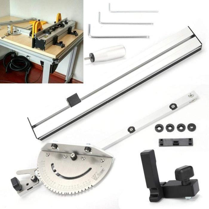 Kit de Jauge d'onglet 450 mm et Joint de Boîte pour Scie à Table, Jauge d'onglet avec Kit de Gabarit de Joint de Boîte pour Travail