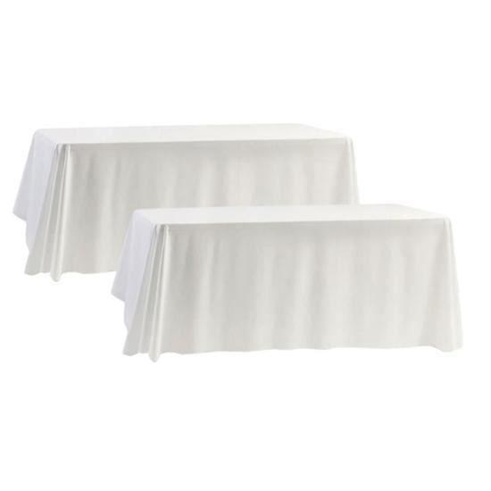 Lot de 5 BLANC Nappe en polyester 175cm x 315cm rectangulaire