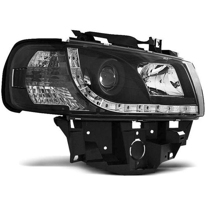 Paire de feux phares VW T4 bus 96-03 Daylight led noir (WB6)