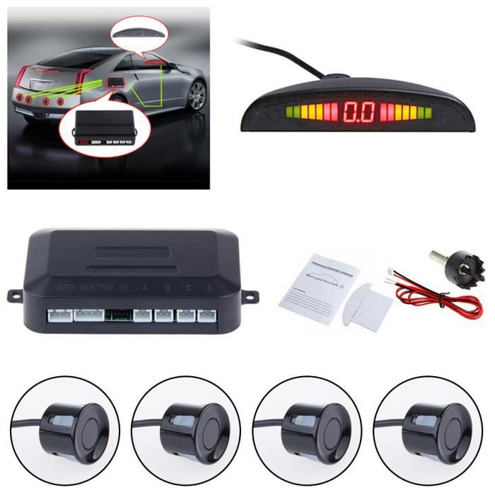 Parking LED inverse Système de Radar de sauvegarde avec 4 capteurs