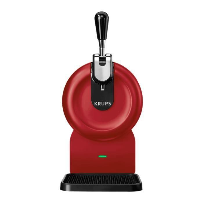 Les5CAVES - Tireuse à bière Starter Krups The SUB Compact Rouge - Compatible avec les Fûts 2L The