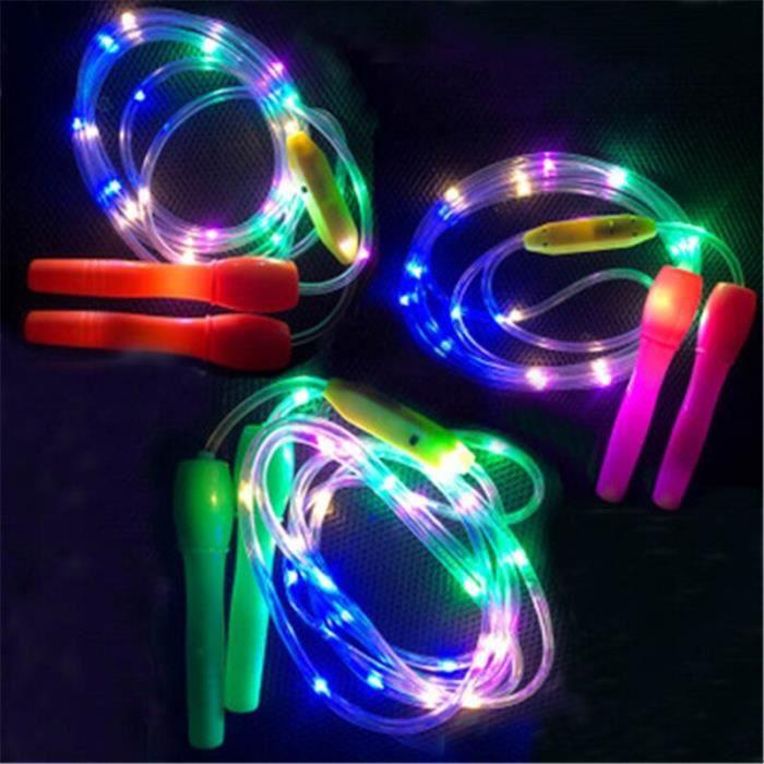 Led brillant corde à sauter lumineux corde à sauter enfants extrait rester à la maison Fitness cordes à sa - HSJSTSA07028