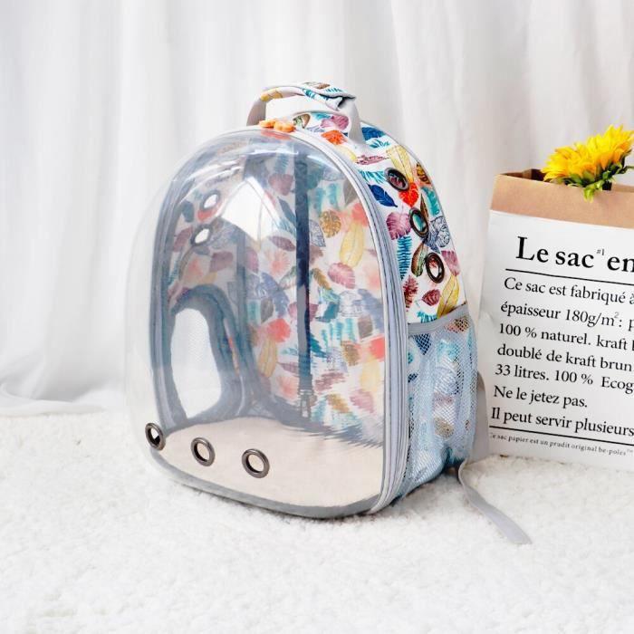 Sac de transport,Sac à dos chat Transparent respirant Sac de transport, sac pour chiot chat, Cage d'astronaute- Type 031 white-M