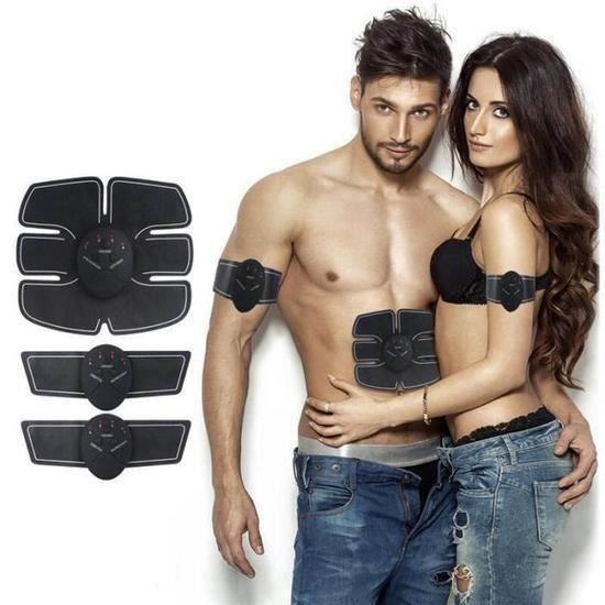 YA*Electrostimulateur, Appareil de Musculation Abdominaux Bras Cuisses Ceinture abdo Fitness pour Hommes Femmes Noir