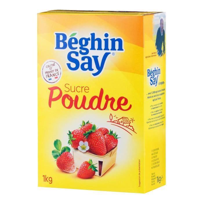 Sucre poudre 1 kg Béghin Say