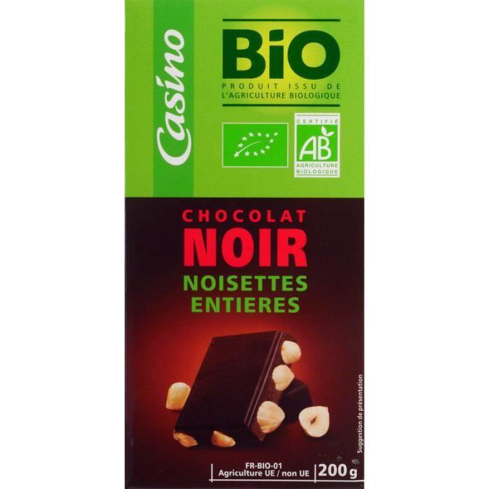AUCUNE Chocolat noir noisette entière - Bio - 200g
